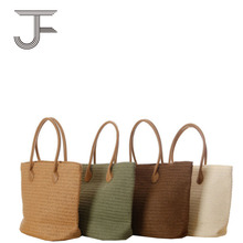 European and American style paper bag bag tote beach straw bag