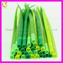fancy funny silicone rubber green grass leaf ball pen flower ballpoint pen
