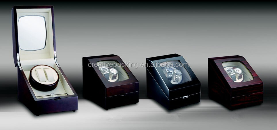 2+3 Rotations China Mabuchi Motor Green Automatic Watch Winder Box