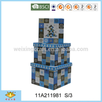 Fancy Blue Tree Christmas Decoration Gift Packaging Box
