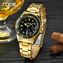 MCE Branded High quality rolexable all stainless steel automatic gold watch for men 01-0060032