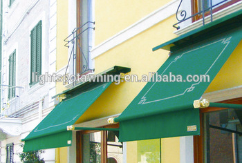 French auto folding arm door awning