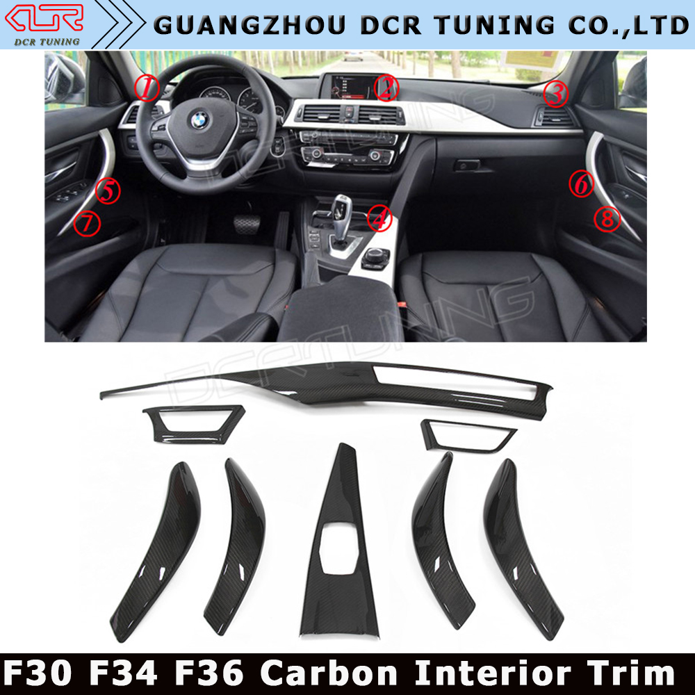 Promotion!!! Carbon Fiber Trims/Car Carbon Interiors Trim For BMW F30 F34 F36