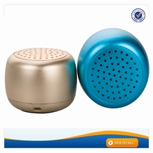 AWS1144 2016 Newest Gold / Black Metal Mobile Wireless Portable Microphone Mini Bluetooth Speaker Box With Custom