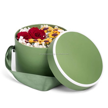 Custom Logo Luxury Paper Cardboard Flowers Ribbons Packaging Cheap Round Hat Boxes Card gift box