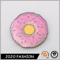 Fashion Girl Pink Doughunt Pvc Silver Brooch Pins Jewelry China Wholesale