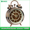 3 inch small analog clock metal desk clock antique brass table clock