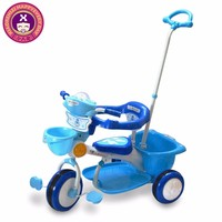 Fashional Design Lovely Girl Babies Tricycle With Push Bar