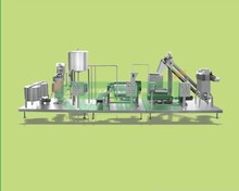 Apple juice production line/fruit pulp processing machine