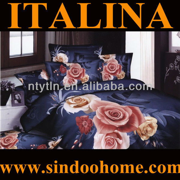 beautiful rose design bed sheet 3d printing