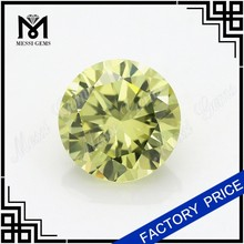 round machine cut 10mm oliver cubic zirconia gemstone