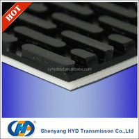Heat Resistant 13mm 4 piles toothed PVC industrial belt for conveying and polishing stone