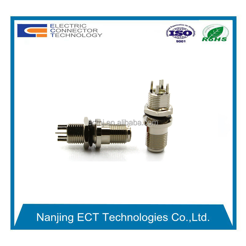 Straight RF Coaxial Female F Type Connector