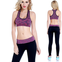 Low Price hot sexy seamless sports bra for girl, rise gym bra