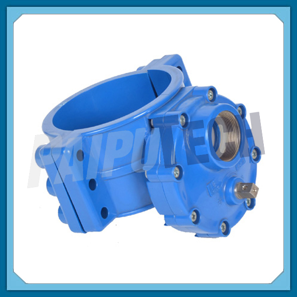 Plastic Pipe Fittings UPVC Saddle Clamp with Valve for Water