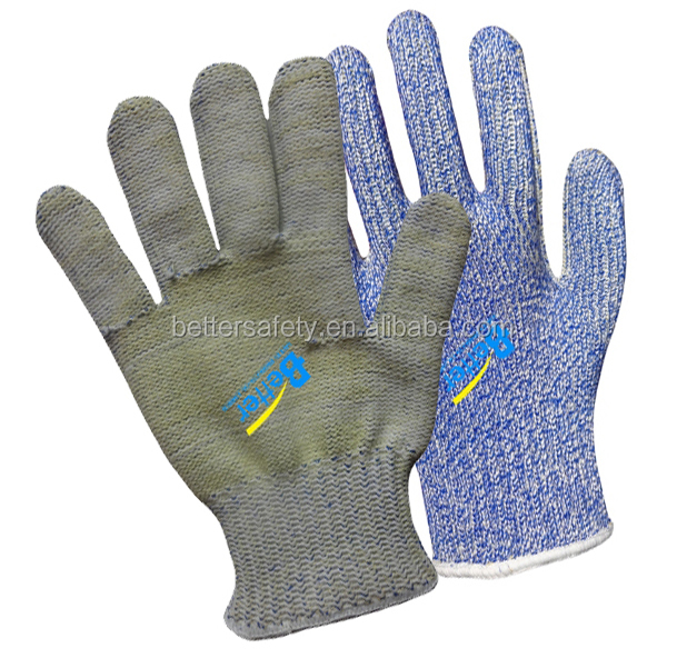 7-guage Flame Retardant Aramid Fiber Knitted Cut Resistant Gloves ...