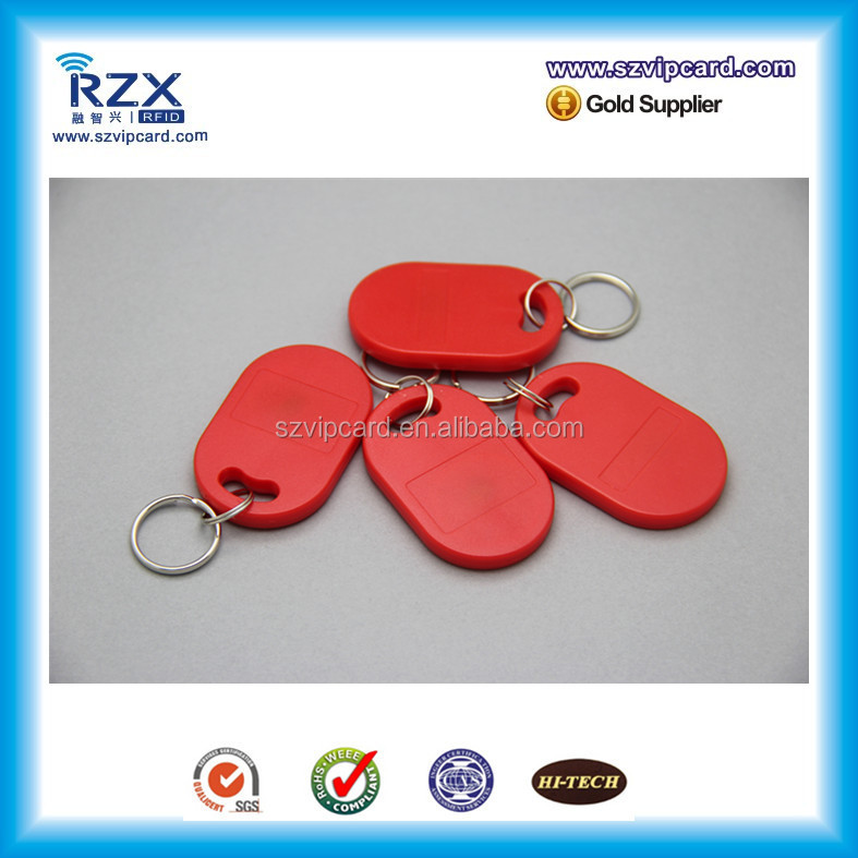 ABS material 13.56Mhz MIFARE Ultralight rfid key fob/ chain/ ring