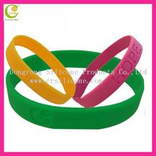 Custom silicon bracelet ,promotional decenario bracelets silicone wristband small novelty items for promotion