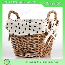 Wholesale small natural rectangular wicker gift baskets supplies