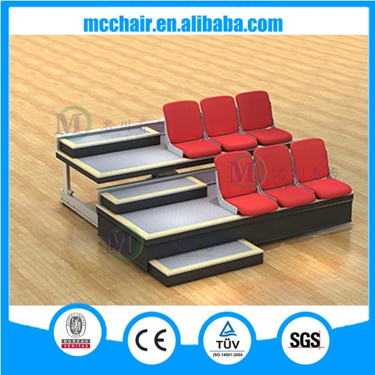 Professional classic seating mobile grandstand retractable bleacher conference room chair for sale telescope
