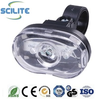 0.5Watt 3 white led 2modes bike front light cycle headlight with 2xAAA battery