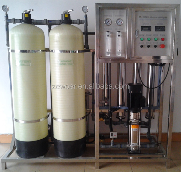 1000LPH Industrial Reverse Osmosis System with Manual Valve and Dosing System