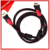 Dual colors nylon jacket hdmi cable 2.0v with two ferrites cores
