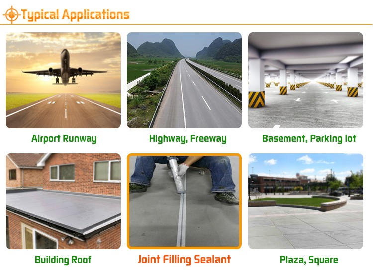 High-Performance one-component Self-levelling Sealing and waterproofing expansion joints no shrinkage polyurethane sealant