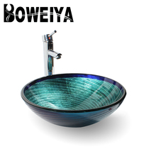 Best Selling Products China Blue Bathroom Ware Hand Wash Basin With Stand Price