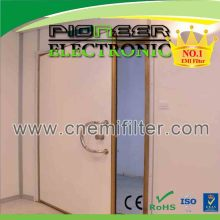 brass frame shielding MRI door for nuclear magnetic resonance NMR