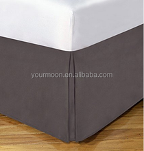 100% brushed microfiber pleated bed skirt/dust ruffle for hotel or home