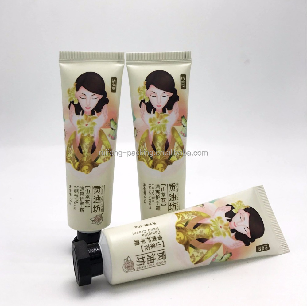 2017 40g best hand cream aluminum plastic packaging tubes