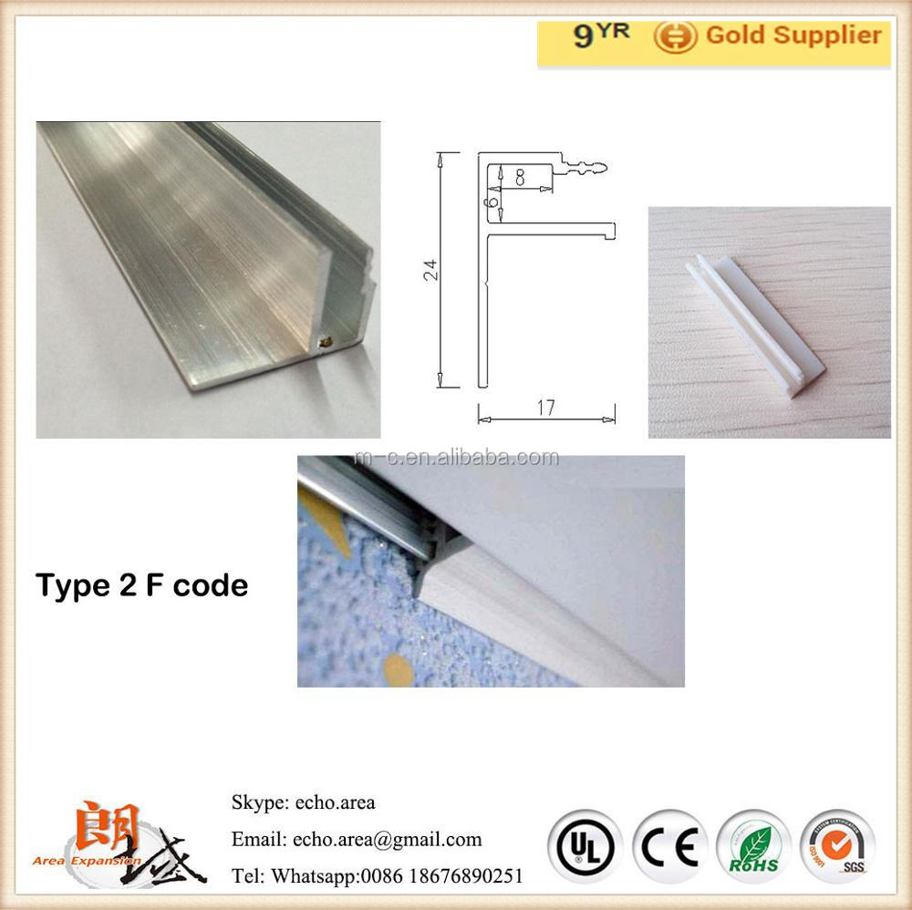Free Sample!! Competitive Price Metal Construction Material All Types of Stretch Ceiling System Aluminum and Plastic Profiles