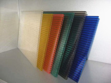 ISO Twin Wall Polycarbonate Hollow Sheet/Polycarbonate Glazing Sheeting/PC Hollow Sheet