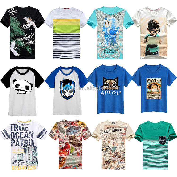 Casual shirt digital sublimation printing 100% cotton t shirt custom print logo and pattern