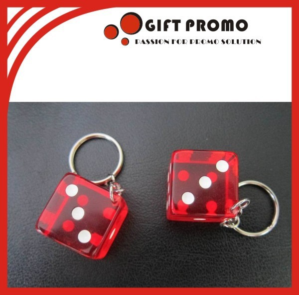 Hot Sales Dice Shaped Keychain