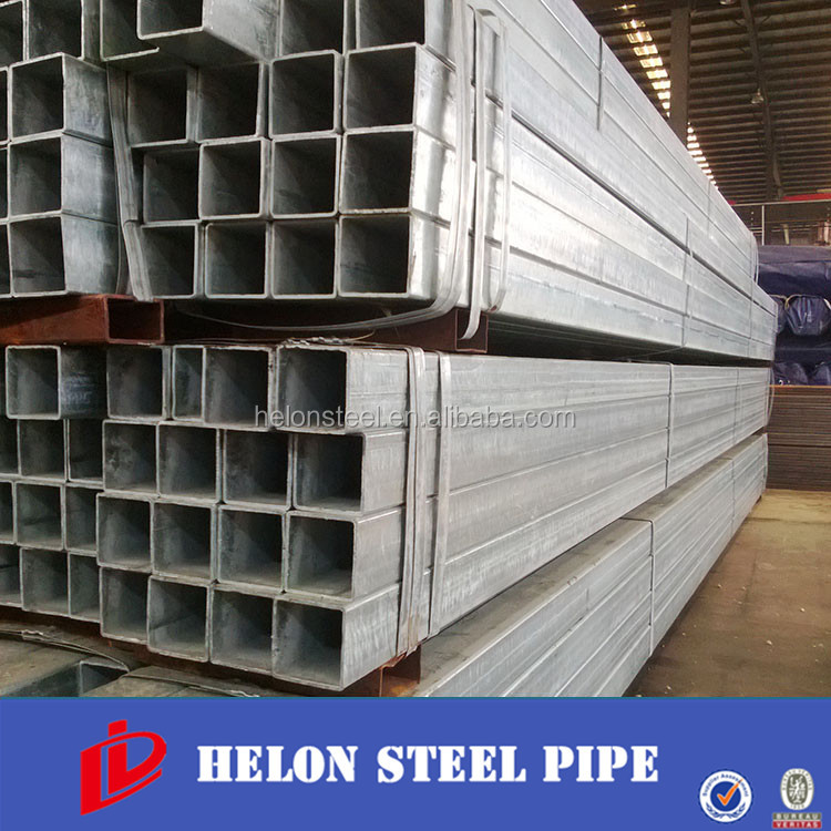 pre zinc coated mild steel square pipe /galvanized pipe horse fence /s355j2h rectangular tube