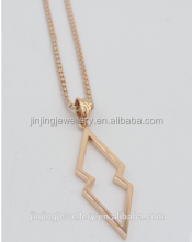 The new arrival stainless steel rose gold plated triangle shape time pendant neckalce