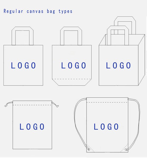 standard for size blank tote high quality canvas bag