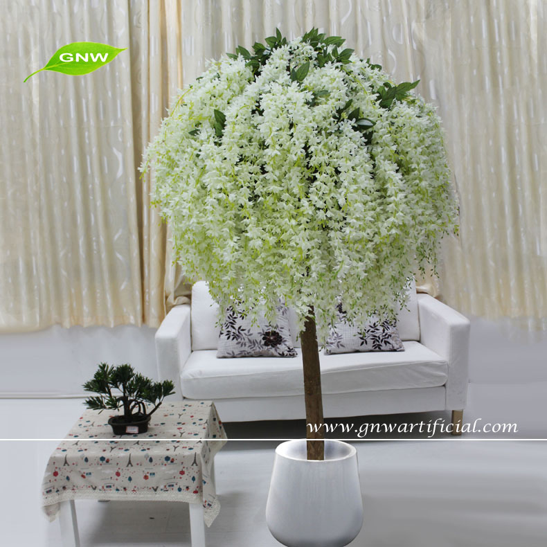 gnw bls058 fake trees for weddings artificial wisteria flower tree bonsai 7ft high bonsai tree office
