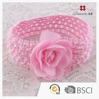 Custom Handmade Material crochet headband with large flower