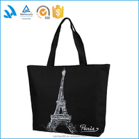 Good quality black canvas polyester messenger bag, duffle bags custom