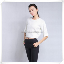 Crochet Sleeve length Top 2015 fashion ladies cable sweater and knitwear guangzhou