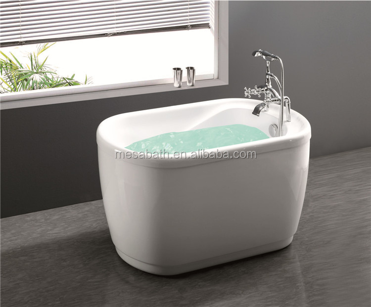 New Small Mini Freestanding Soaking 120 cm 48 inch Acrylic Bath Tubs Bathtubs for Sale