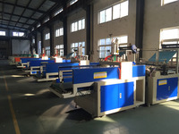 Heat sealing cold cutting biodegradable plastic bag making machine