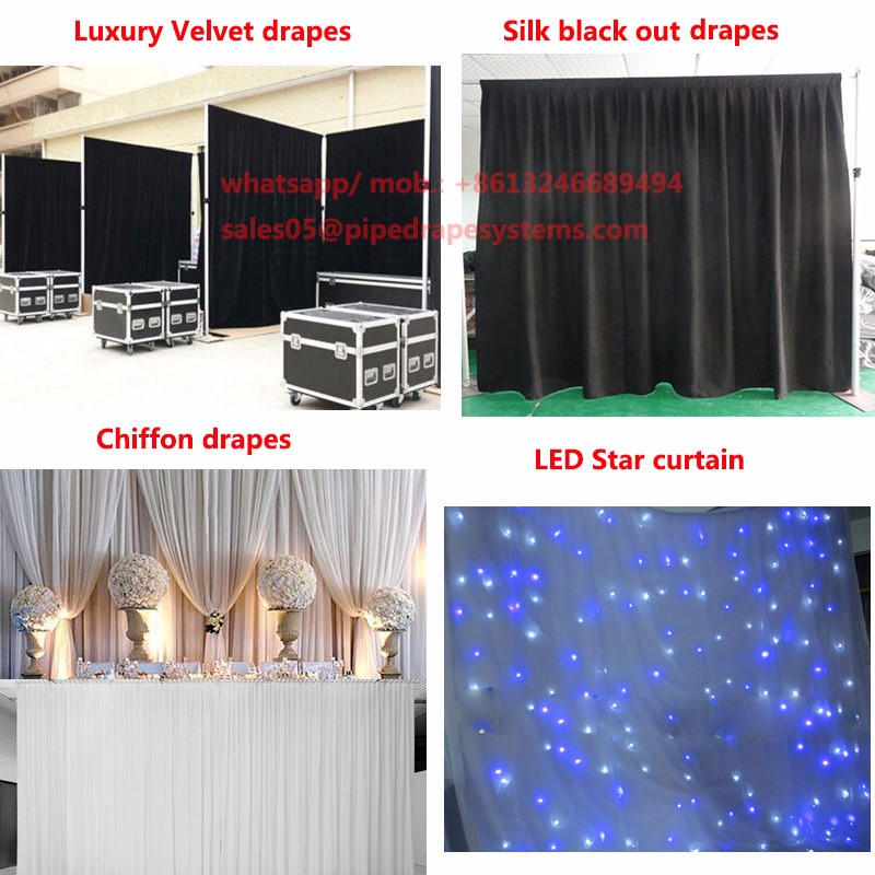 Top quality pipe and drape wedding backdrop systems for parties weddings and special event