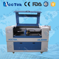 Acctek two heads co2 laser cutter engraver /co2 laser wood cutter for sale 6090