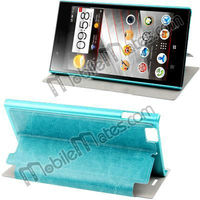 Smart Solid Color Sleep Wake-up Side Stand Sheepskin Texture Leather Flip Case for Lenovo K900