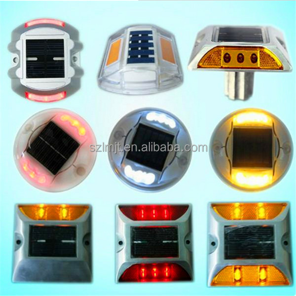 Wholesale 360 degree visible colorful LED luminous IP68 waterproof plastic round solar reflective road stud