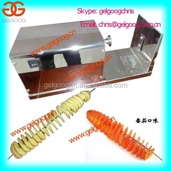 Small potato spiral cutter/potato twist machine/tornado potato slicer machine